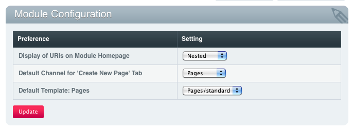 Pages Module